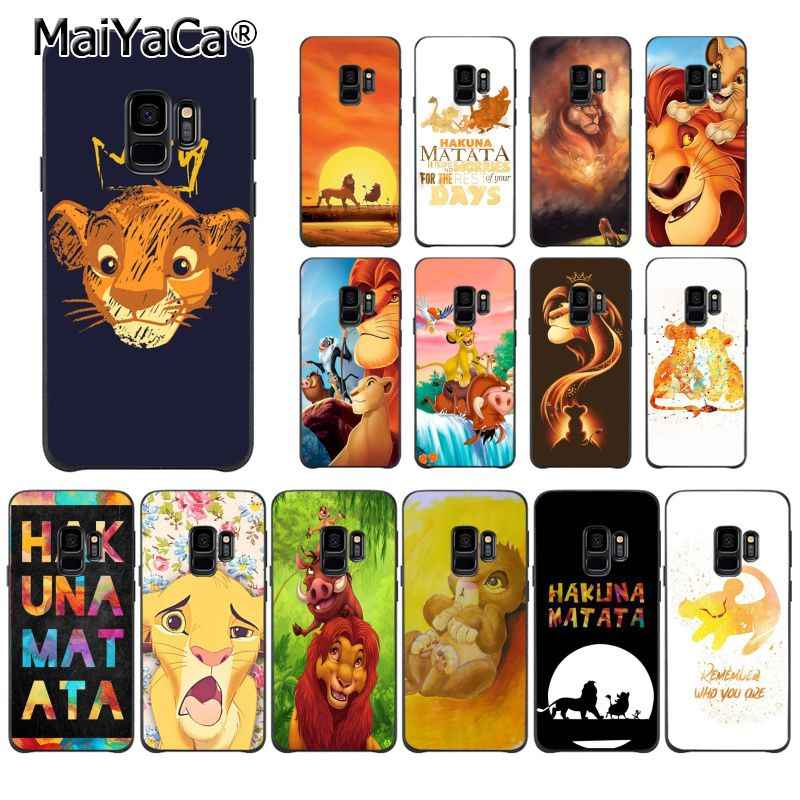Maiyaca The Lion King Coque Phone Case untuk Samsung Galaxy S7 S6 Edge Plus S5 S9 S8 Plus S10 S10Plus s10E Kasus M10