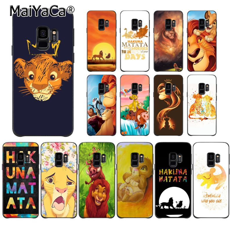 MaiYaCa The Lion King Coque Shell Phone Case for Samsung Galaxy S7 S6 edge plus S5 S9 S8 plus S10 S10Plus S10E Case image