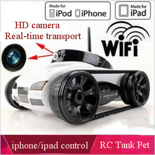 New iphone/ipad wireless remote control i-spy tank toy car with Camera,  Real-time video, Rover App-Controlled + free shipping