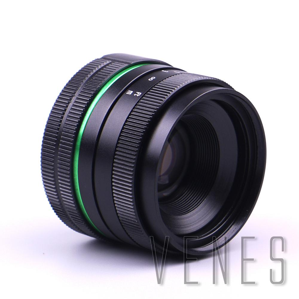 Green circle Lens 35mm Upgraded Style Manual Iris Lens Suit For Fuji, Canon, Nikon, Sony, Oly.mpus
