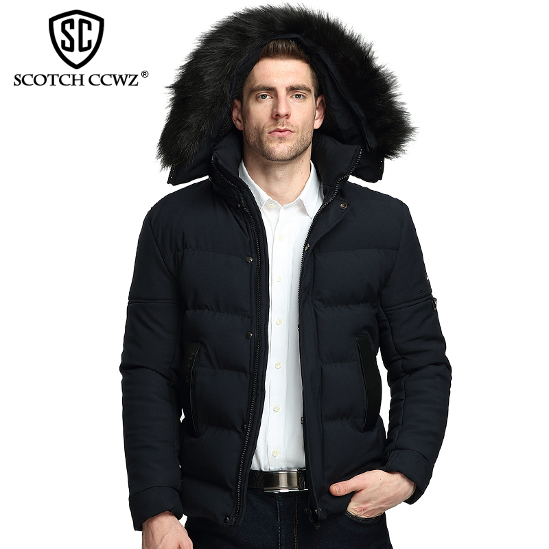 SCOTCH CCWZ Brand RU/EU size Thick Keep Warm Fashion Winter Jacket Men Parkas Overcoat 2017 New Jackets And Coats Clothing 71717 free shipping winter parkas men jacket new 2017 thick warm loose brand original male plus size m 5xl coats 80hfx