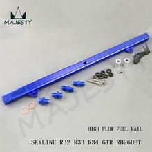 Заготовка высокий расход топлива рампа для SKYLINE R32 R33 R34 GTR RB26DETT RB26 алюминиевый цвет синий