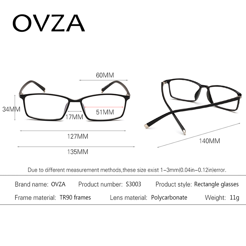 Ovza New TR90 Eyeglasses frames Men Rectangle Optical frame Women ...