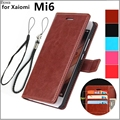 retro leather Flip Case for Xiaomi Mi6 M6 Mi 6 Protective Cover Money slots Magnetic Buckle Holster Card Holder Cover Case