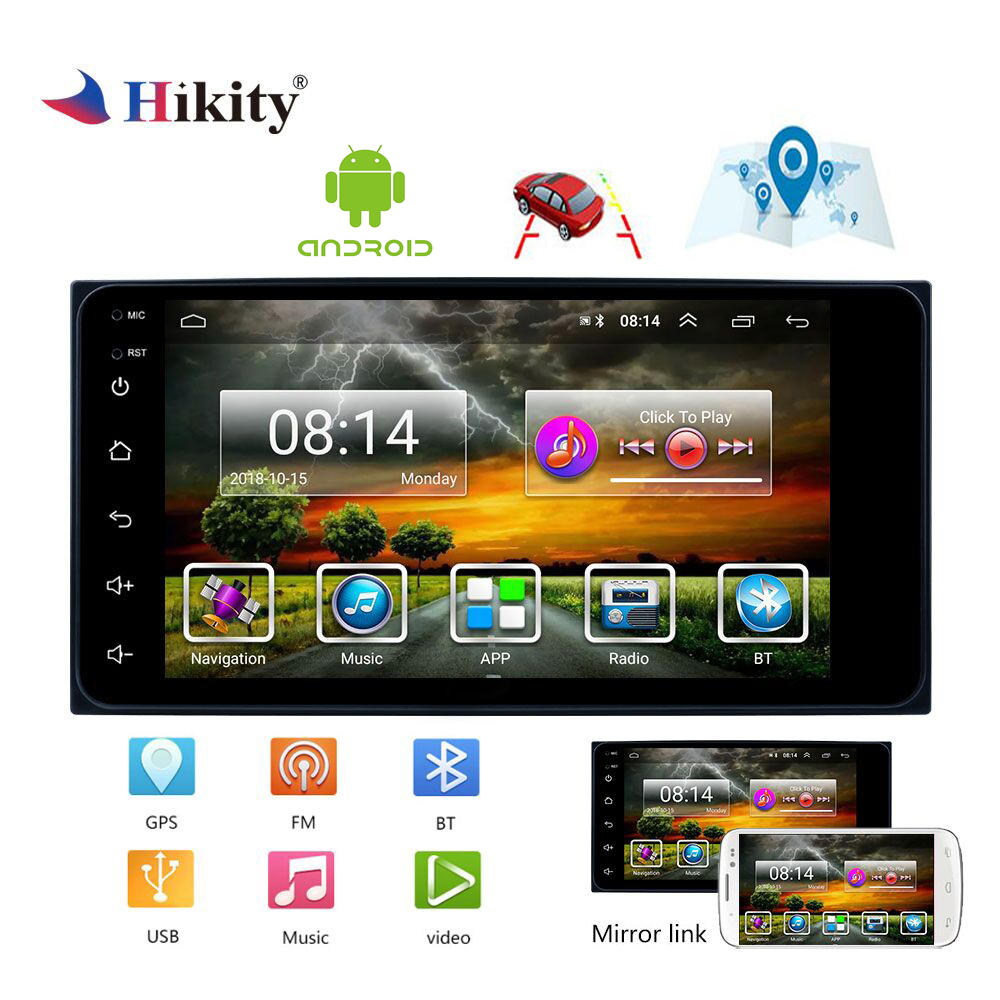 Hikity 2 din autoradio Android 7