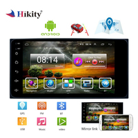 Hikity 2 din Car Radio Android 7HD 1080P Car Multimedia MP5 Player with GPS Navigaton Wifi Bluetooth USB Car Stereo For Toyota