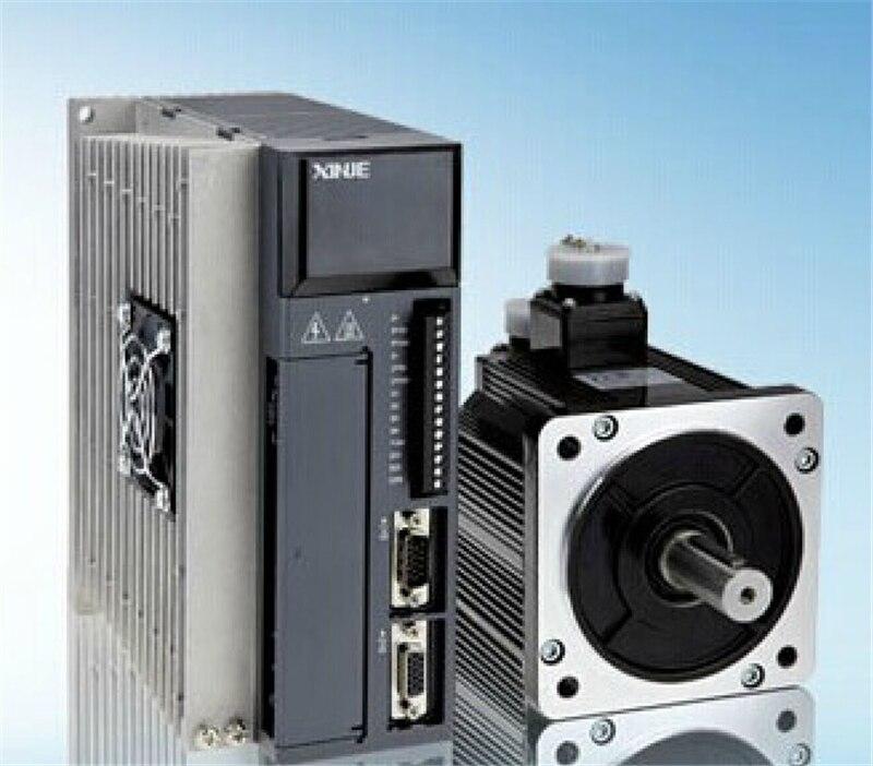 220V 0.75KW 750W 2.39N.m 3000rpm AC Servo Motor Drive kits  with 3M cable MS-90ST-M02430B-20P7+DS2-20P7-AS XINJE servo drive mddct5512b03 90