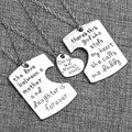 2016 gift 3pcs Family Groups Jewelry Father and Mother I Love U Charm Pendant Necklace set for Daughter Daddy Mom