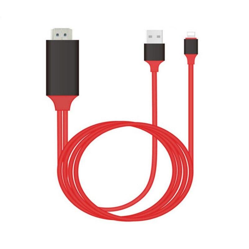 8 Spille al Cavo di HDMI HDTV TV Adattatore AV Digitale 2 m USB HDMI 1080 p Smart Cavo del Convertitore per apple TV per Il Iphone HD Plug and Play
