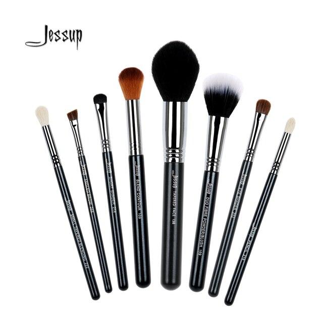 Jessup 8Pcs High Quality Pro Makeup Brush Set Kabuki Foundation Blending Duo Fibre Contour Shader Powder Make Up Tools sets T121