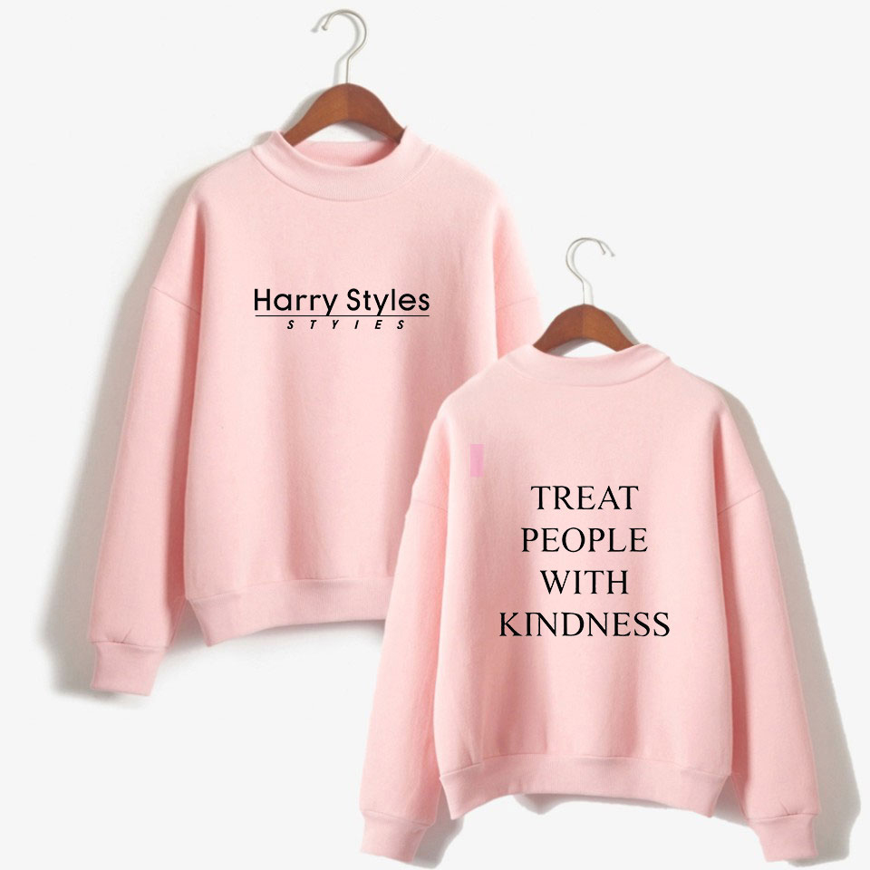 Harry Style Sweatshirts Women Treat People With Kindness Hoodies Sweatshirt Funny Letter Printed Harajuku Pullover Autumn Winter