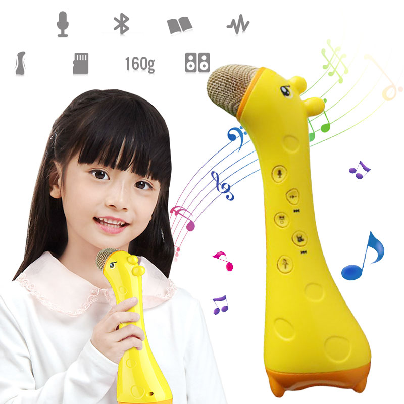 Дети Bluetooth беспроводной микрофон пение музыкальный плеер дома KTV игрушечное караоке