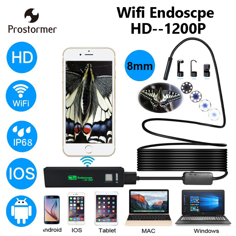 Prostormer HD Wifi Endoskop Kamera iOS Wifi Kamera Android Iphone Endoskop Kamera Endoskopische Halbstarre Endoskop Kamera