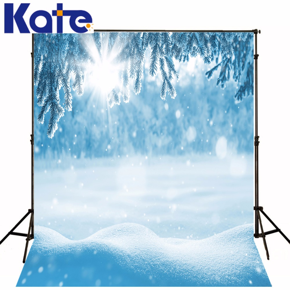 Kate Blue Snow Photography Backdrops  Snowflakes Photography Backdrops Christmas Winter Princess  Background 300cm
