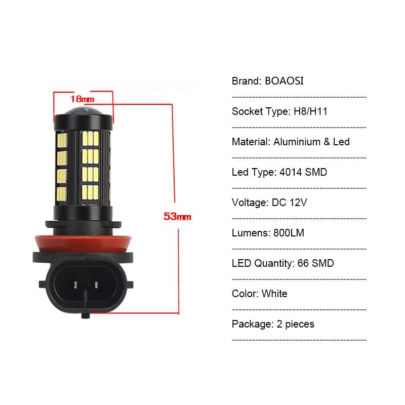 Φωτιστικά αυτοκινήτου 2x H11 H8 - Φώτα αυτοκινήτων - Φωτογραφία 6