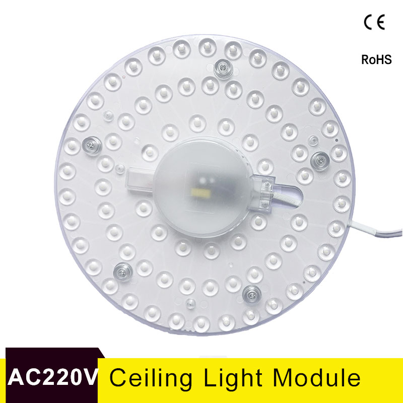 Ceiling Lamps <font><b>LED</b></font> <font><b>Module</b></font> AC220V 230V 240V 12W 18W <font><b>24W</b></font> 36W <font><b>LED</b></font> Light Replace Ceiling Lamp Lighting Source for Living room Bedroom image