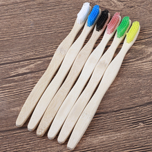 Natural Pure Bamboo Toothbrush Portable Soft Bristles Travel Tooth Brush Eco Friendly Brushes Dental Oral Cleaning Care dropship denture cleaning brush multi layered bristles false teeth brush oral care tool bristles page 8