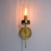 Regron стекло абажур настенный светильник бра E14 светодиодный настенный светильник для спальни отель коридор прикроватные зеркало led Настенны