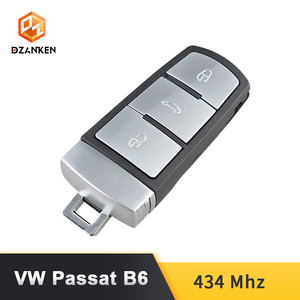 Image 2 - Dzanken 3 Botons Remoto Car Key for VW Passat B6 3C B7 Magotan CC& Transponder Chip& Uncut Blade