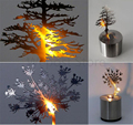 Hot sale Creative LED Shadow Projection Night Light Chrismas tree Atmosphere Candle Decor Lamp 5 Designs Great kids Gift Xmas