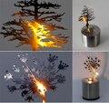 Hot sale Criativo LED Sombra Luz Projeção Noite Chrismas árvore Vela Decoração Da Lâmpada Atmosfera 5 Projeta Grande caçoa o Presente de Natal
