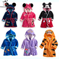 Flannel Baby Kids Robes 6 Styles Cartoon Custom Baby Boys Robes Autumn Hoodied Long Sleeve Bathrobes For Children 2-6 years