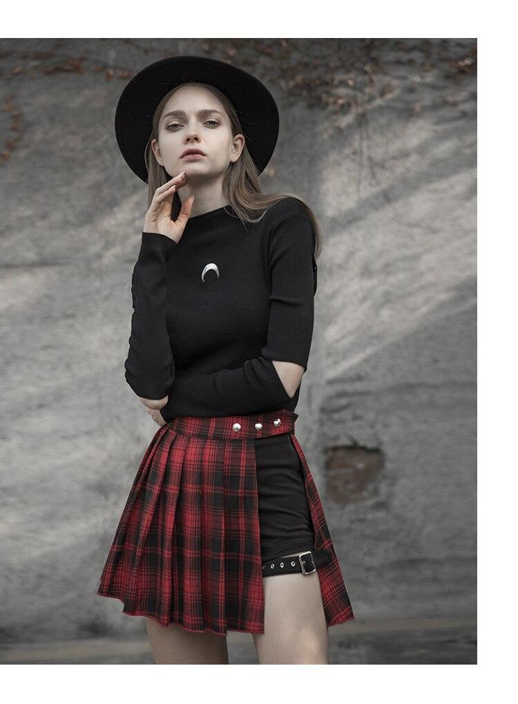092853878b Aliexpress.com  Comprar 2019 Sexy falso dos piezas una palabra falda  irregular de celosía falda de cintura alta para mujeres pantalones cortos  de Falda ...