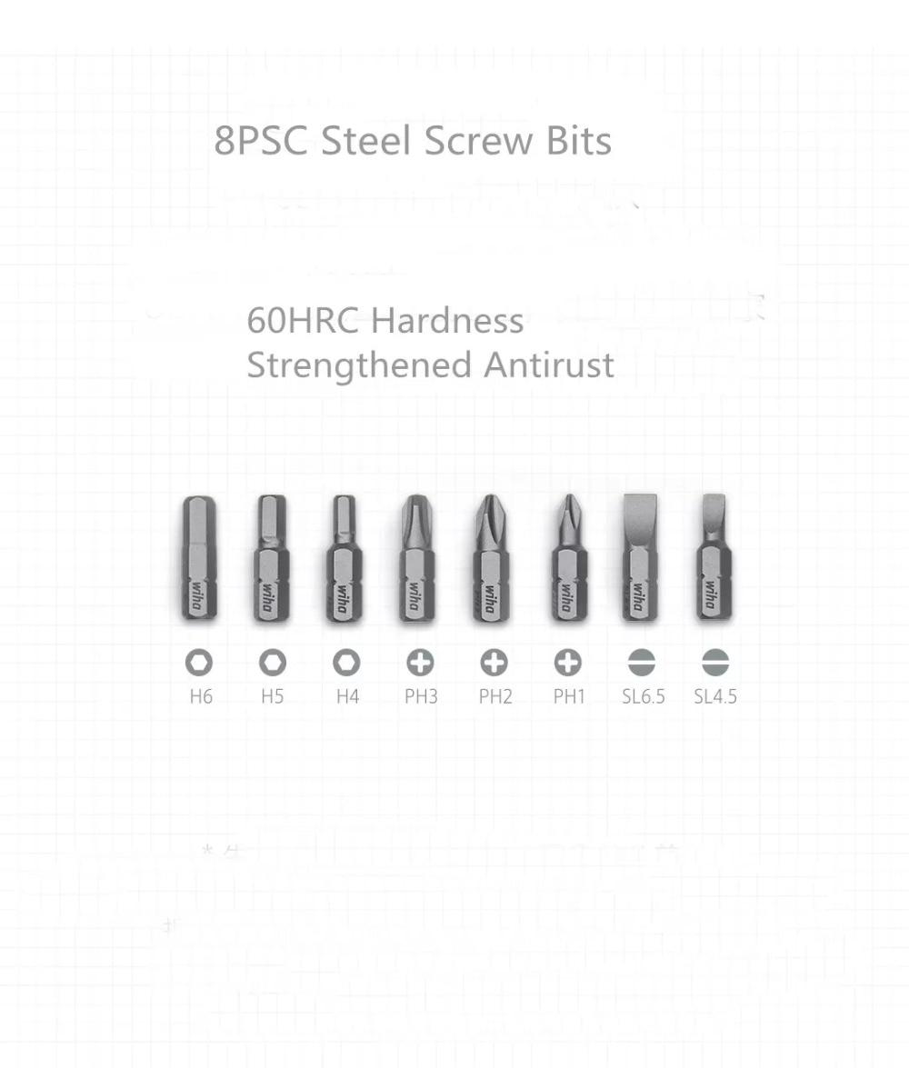 mijia Screwdriver Kit 8 in 1 Precision Magnetic Bits with Extension Rod Alluminum Box DIY Screw Driver Set Repair Tools (1)