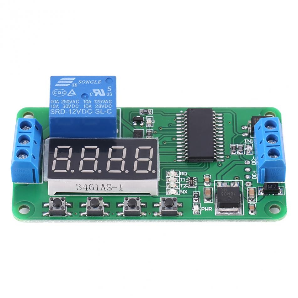12V Time Delay Relay Multifunction 1 Channel DC 12V Delay Relay Controller LED Timer Switch Module Board PLC 1pc red dc12v pull delay timer switch adjustable relay module 0 to10 second t1098 p