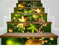 Kerst Nieuwe Woondecoratie Stickers 3d Trap Stappen Worden Verplaatst Met Hd zelfklevende