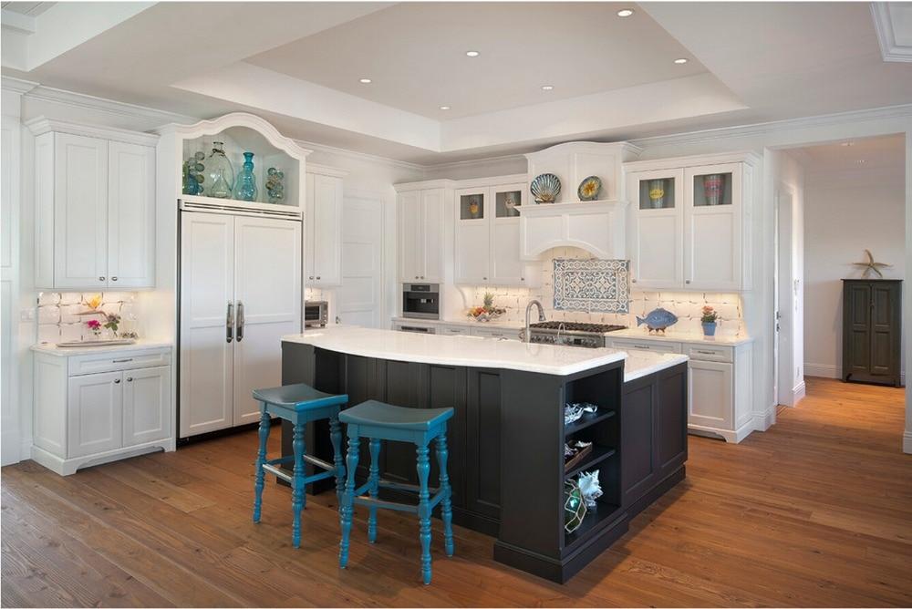 de descuento de madera maciza gabinetes de cocina gabinetes de madera de color blanco