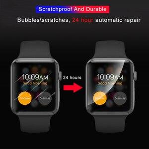 Image 4 - 2個ソフトヒドロゲルフルスクリーンフィルムについては、apple腕時計5 38ミリメートル42ミリメートル40ミリメートル44ミリメートル強化フィルムiwatchのための5/4/3/2/1ないガラス