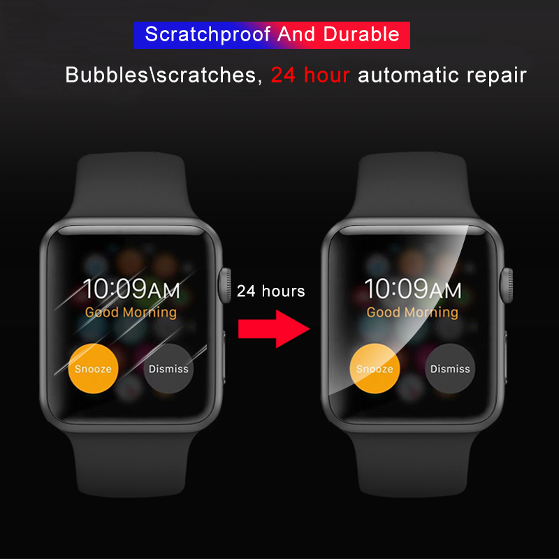 Image 4 - 2Pcs Soft Hydrogel Full Screen Protector Film For Apple Watch 5 38mm 42mm 40mm 44mm Tempered Film For iwatch 5/4/3/2/1 Not Glass-in Phone Screen Protectors from Cellphones & Telecommunications