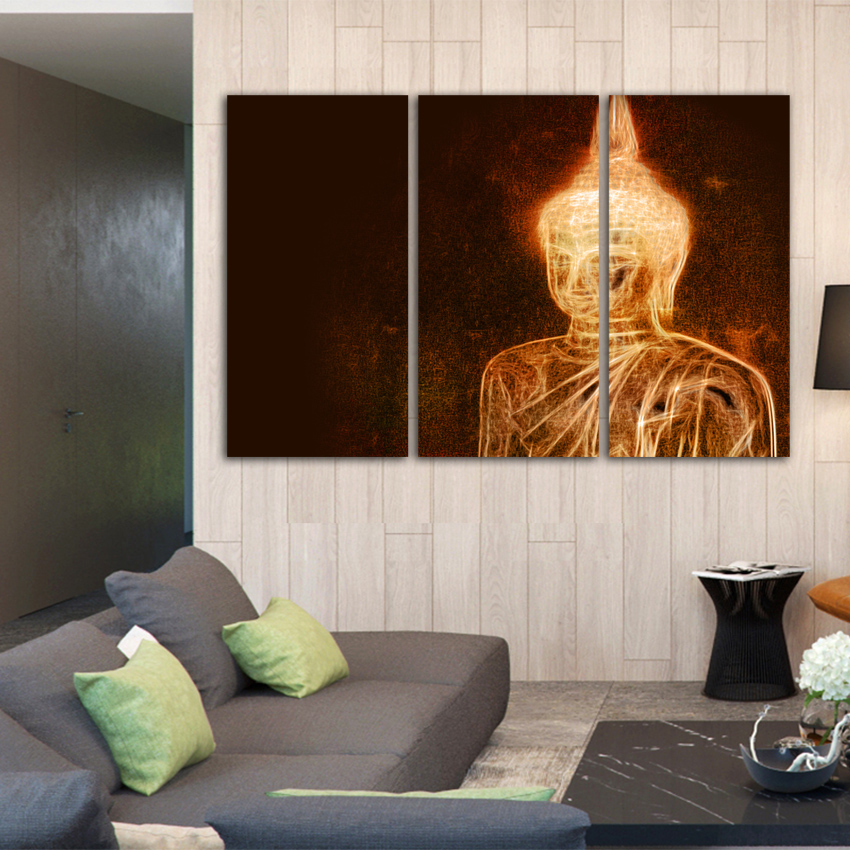 Buy no framed fa304 art prints poster abstract wall pictures buddha portrait for Large wall posters for living room