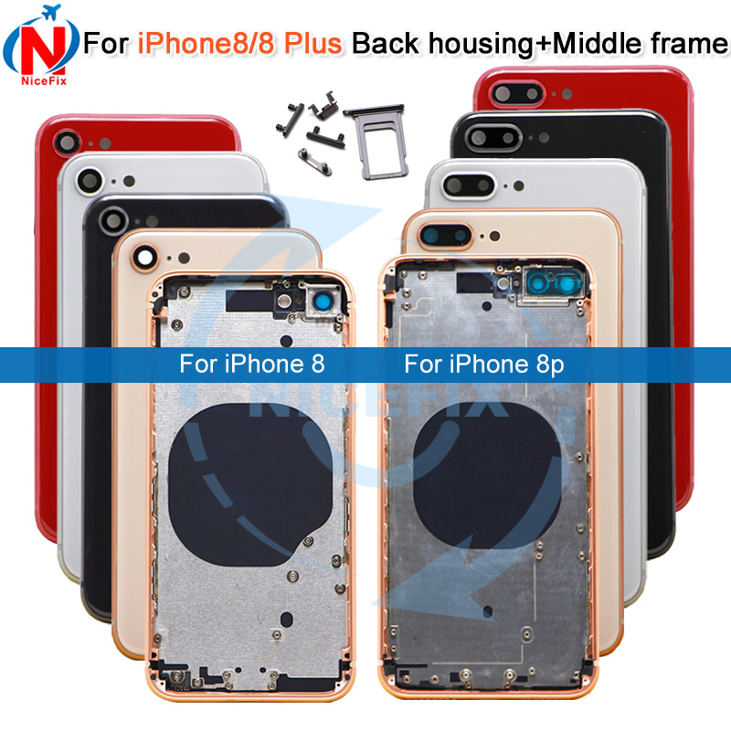 meet 339f8 162ab US $33.25 |For iphone 8 8G 8 Plus New Back Middle Frame Full Housing  Assembly Battery Cover Rear Door For iphone 8 back Housing-in Mobile Phone  ...