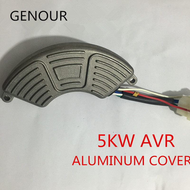 good quality aluminum cover AVR For 5kw Single Phase EC6500 Gasoline Generator, Automatic Voltage Regulator GX390 188F engine 5kw single phase automatic voltage regulator aluminum shell petrol generator excitation avr