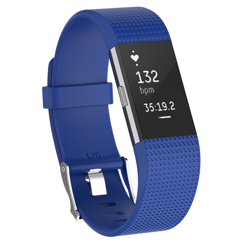 Wristband Wrist Strap Smart Watch Band Strap Soft Watchband Replacement Smartwatch Band For Fitbit blue YURIE2 16