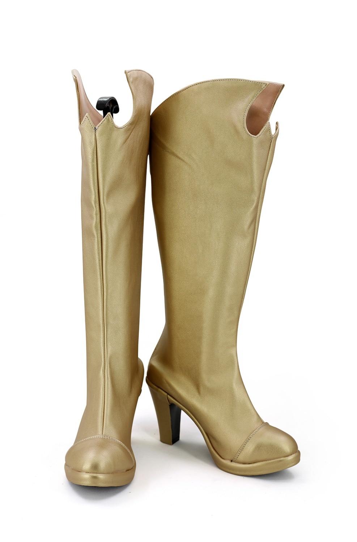 Batgirl Boots Cosplay DC Comic Batman Batgirl Cosplay Shoes Golden Boots Custom Made Any Size