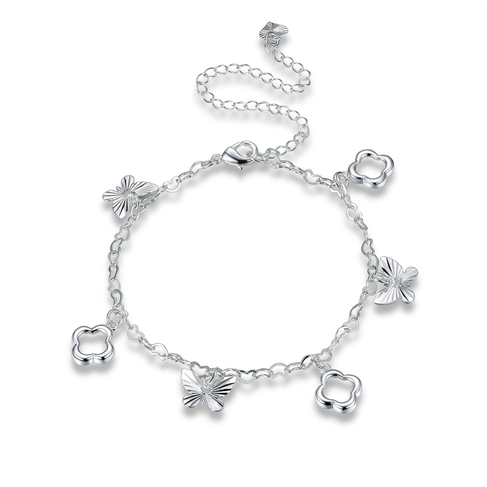 bracelets item ankle chain from double sterling anklets women anklet in bracelet charms adjustable silver licliz heart with jewelry foot