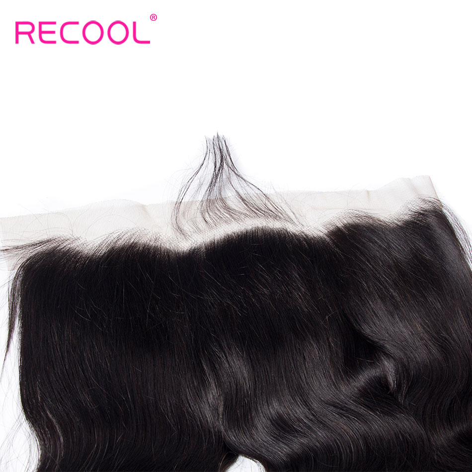 Image 5 - Recool Brazilian Hair Weave Bundles Body Wave Lace Frontal Closure With Bundles 4 Pcs/Lot Remy Human Hair Bundles & Closure-in 3/4 Bundles with Closure from Hair Extensions & Wigs