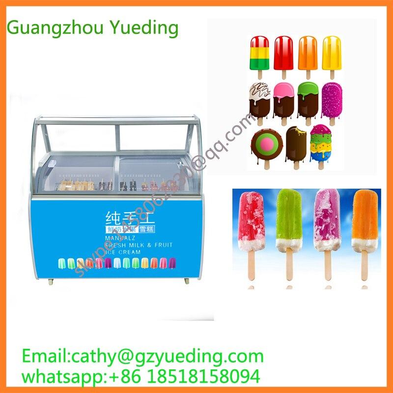 Negozio display freezer per gelato ghiaccioli gelato