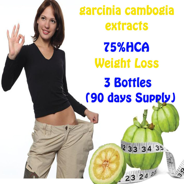 3 Bottles garcinia cambogia extracts anti cellulite hca Fat Burning Weight Loss effective diet NATURAL PURE Slimming products