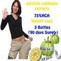 3 Garrafas de hca garcinia cambogia extratos anti celulite Queima de Gordura Perda de Peso eficaz produtos de Emagrecimento dieta NATURAL PURO