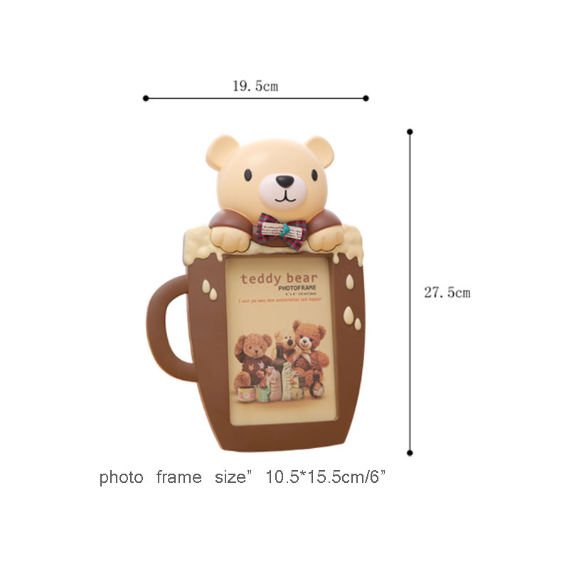 Creative 6 inch Teddy Bear Photo Frame Cartoon Picture Frame for ...