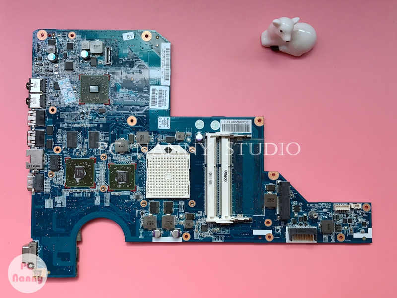 NOKOTION 597673-001 Original laptop Motherboard for HP G62 Mainboard s1 DDR3 w/ GPU video card fully working