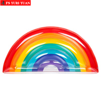 Summer Party Rainbow Inflatable Pool Float toys Cooler Beach Men & Women Colorful Swimming Ring