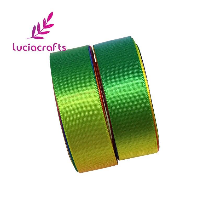Lucia ремесла мм 10 мм/20 мм радуга цвет атласные ленты для вечерние упаковки партии Рождество DIY головные уборы Вышивание интимные аксессуары 5y/лот 040007068