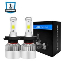 Car Light S2 H4 H7 H1 COB LED Headlight Bulbs H11 H13 12V 9005 9006 H3 9004 9007 HB4 72W 8000LM Car LED lamp Fog Light 6500K(China)