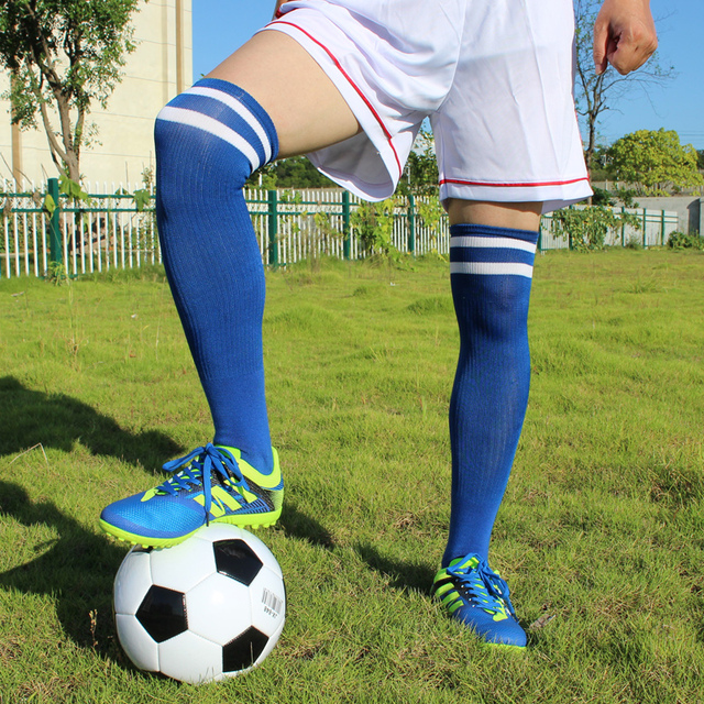 Summer Adult Kids Thigh High Football Socks Cosplay Over Knee Long Soccer  Stocking Socks Dance Baseball Hockey Sock Children