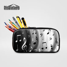 Dispalang Music Note Pencil Case Cosmetic Makeup Make Up Bag Zipper Pouch Purse Portable Children Girls Storage Pencil Bag(China)